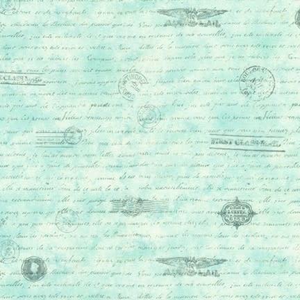 ROBERT KAUFMAN Library of Rarities, Air Mail, Dusty Blue, per cm or $20/m