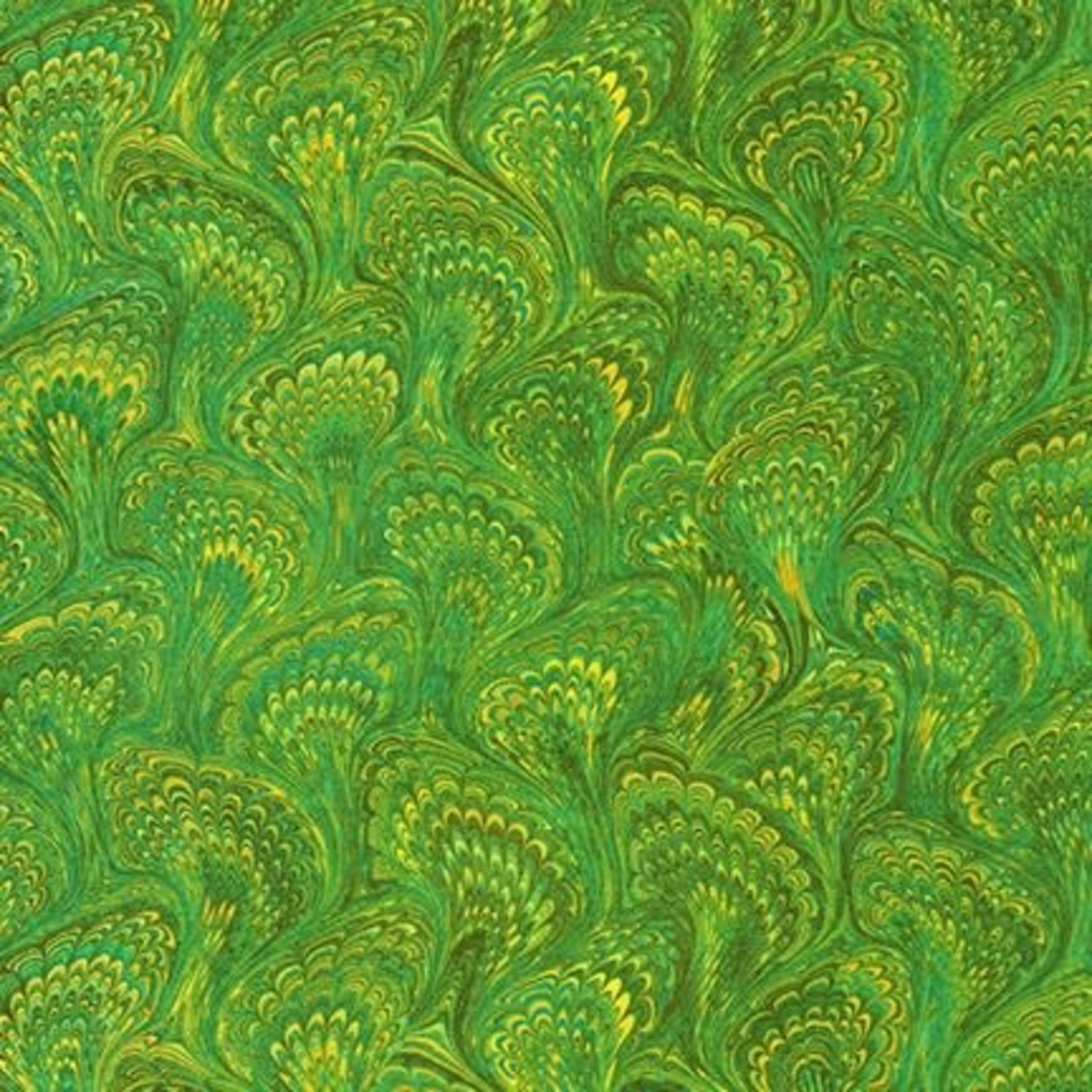 ROBERT KAUFMAN Library of Rarities, Meadow Marbled Endpaper, per cm or $20/m