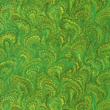 ROBERT KAUFMAN Library of Rarities, Meadow Marbled Endpaper, per cm or $20/m