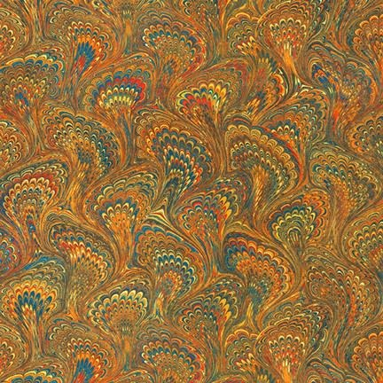 ROBERT KAUFMAN Library of Rarities, Antique Marbled Endpaper, per cm or $20/m