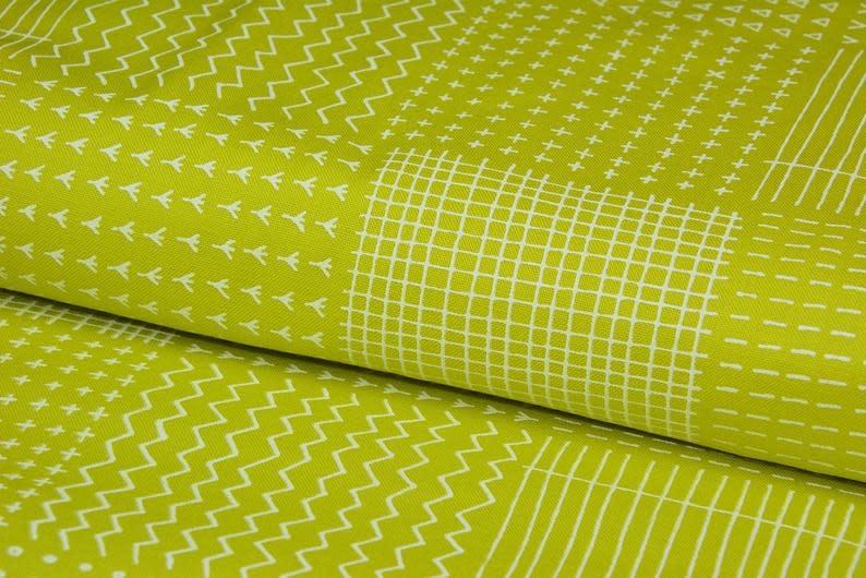 ROBERT KAUFMAN PER CM OR $19/M BLUEBERRY PARK green/yellow NOW 12
