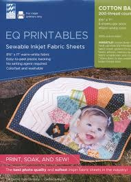 "ELECTRIC QUILT COMPANY EQ PRINTABLES FOR INKJET PRINTERS 8 1/2X11"" 6 SHEETS"