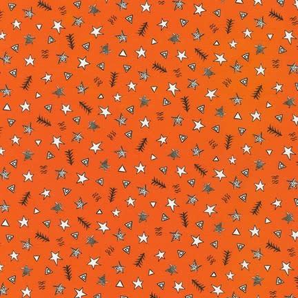 ROBERT KAUFMAN NEIGHBOURHOOD PALS, Stars on Orange, Per Cm or $19/m