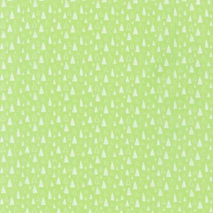 ROBERT KAUFMAN NEIGHBOURHOOD PALS, Triangles on Green, Per Cm or $19/m