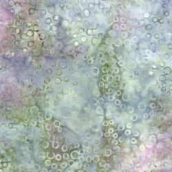 MAYWOOD COASTAL GETAWAY BATIKS, BUBBLES (Sage/Lavender) , Per Cm or $20/m