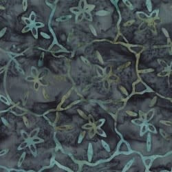 MAYWOOD COASTAL GETAWAY BATIKS, Sand dollars  (Blue) , Per Cm or $20/m