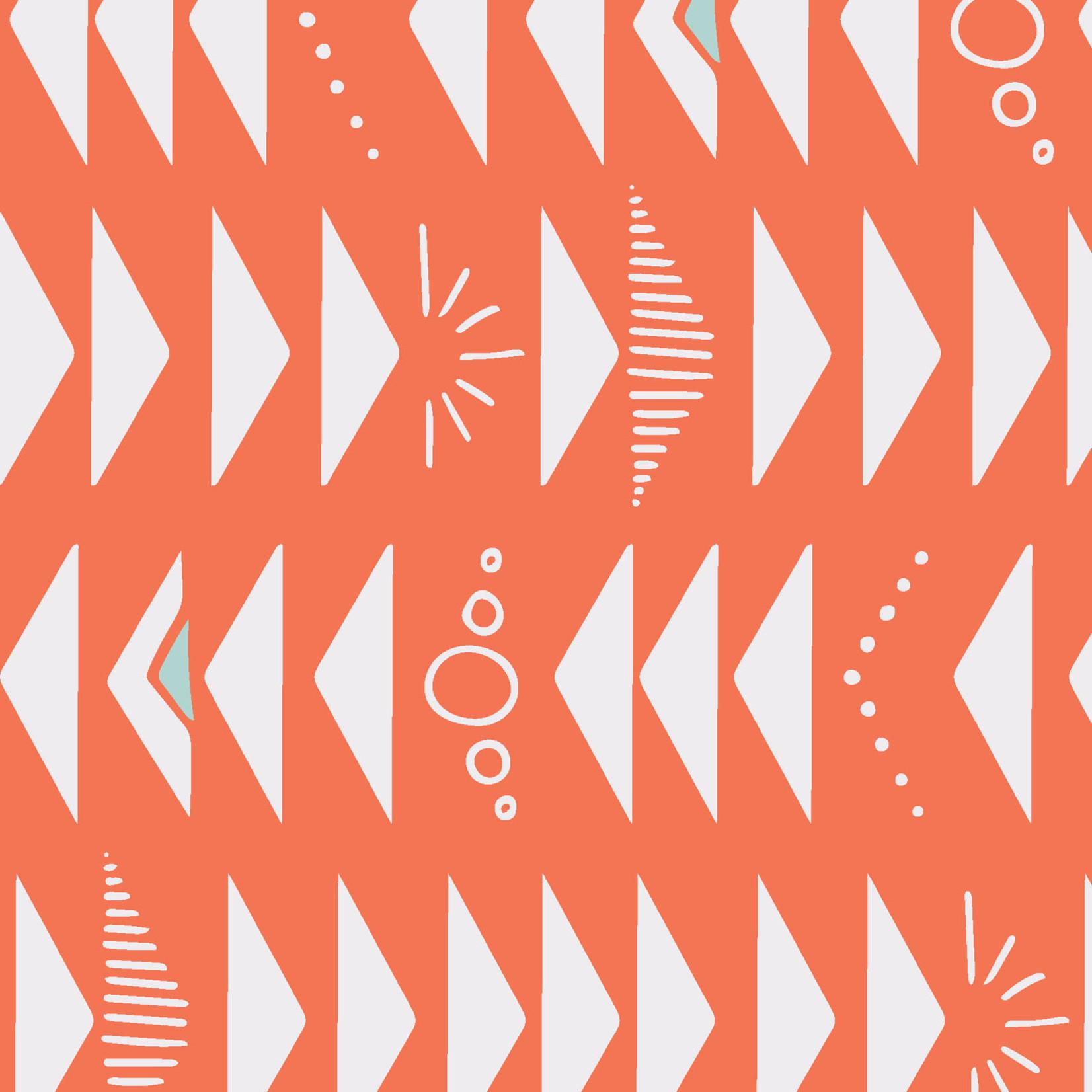 Maywood MOONGATE, Launch Orange (Triangles), per cm or $18/m