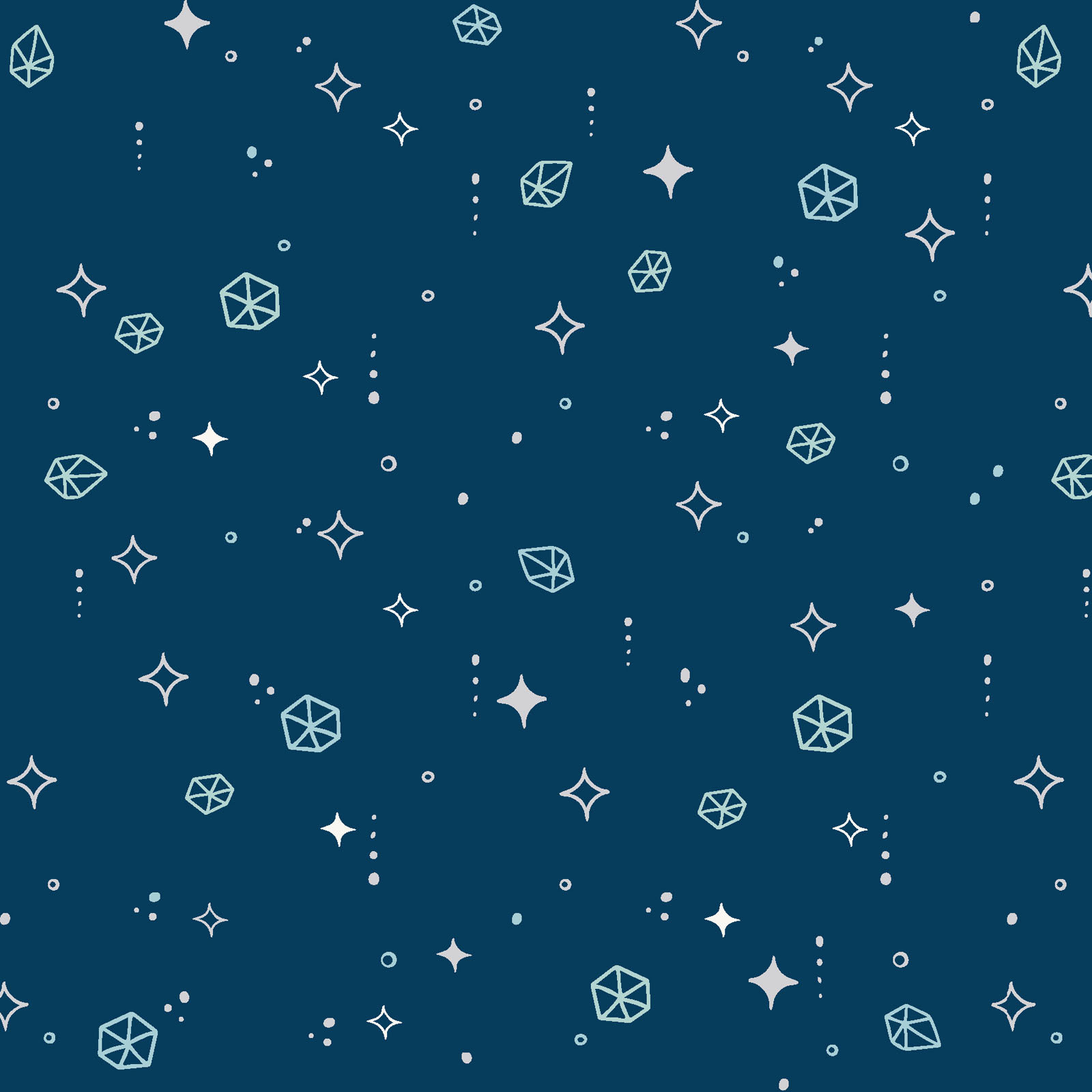 MAYWOOD MOONGATE, Asteroids Navy, per cm or $18/m
