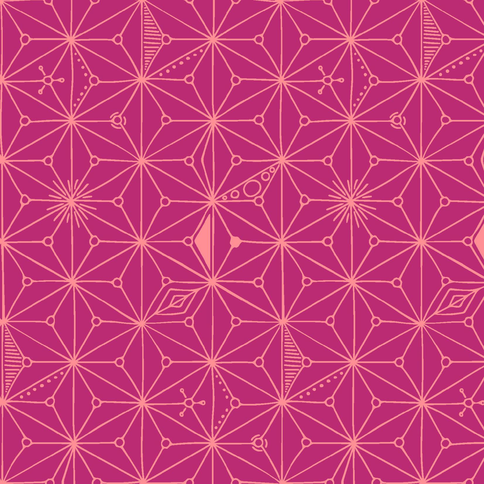 Maywood MOONGATE, CONTINUUM Pink (Geometric), per cm or $18/m