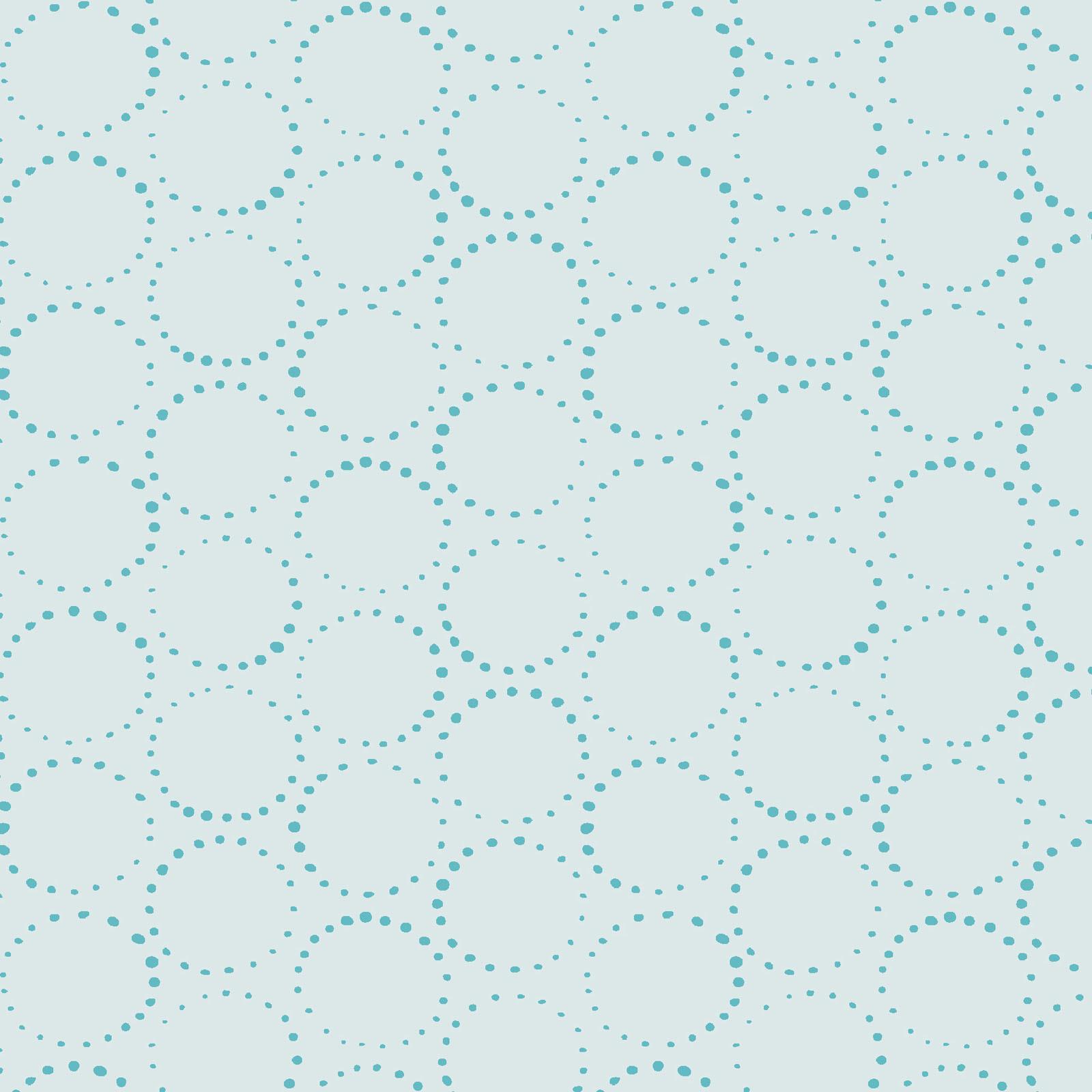 MAYWOOD MOONGATE, Orbit Lt Blue (Circles), per cm or $18/m