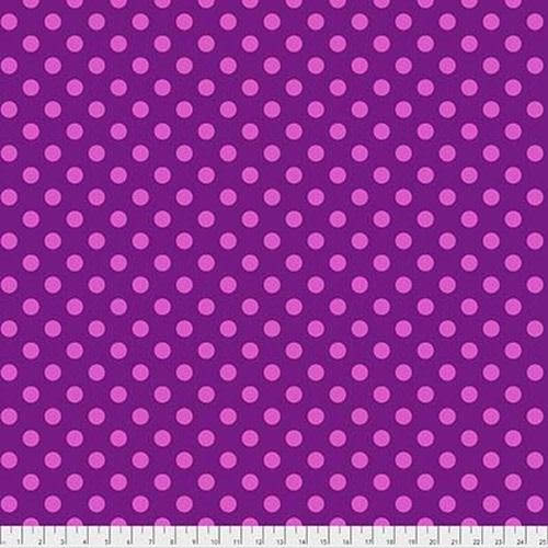 Tula Pink Pom Poms - Foxglove, per cm or $16/m Tula