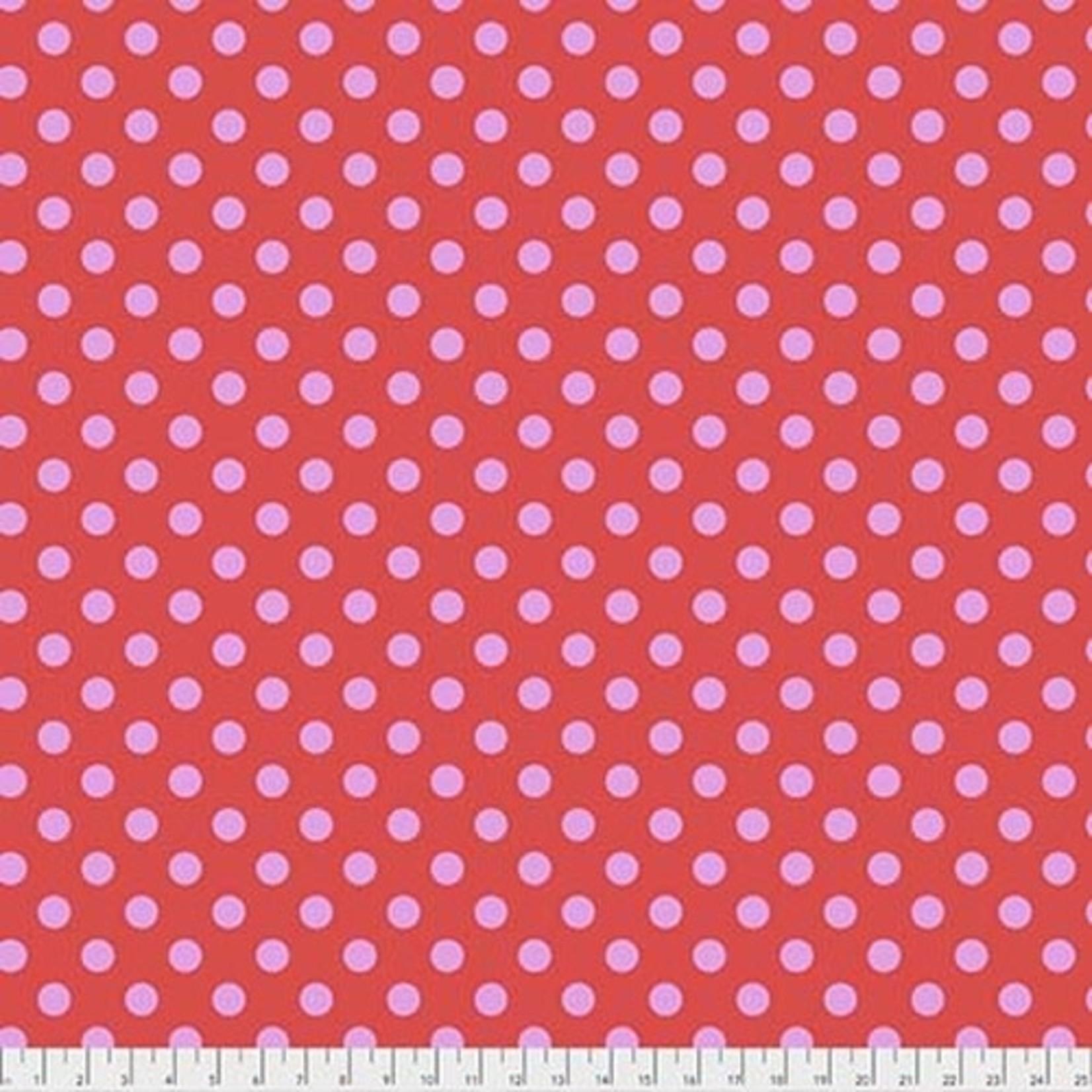 Tula Pink Tula Pom Poms- Poppy 0.17 per cm or $17/m