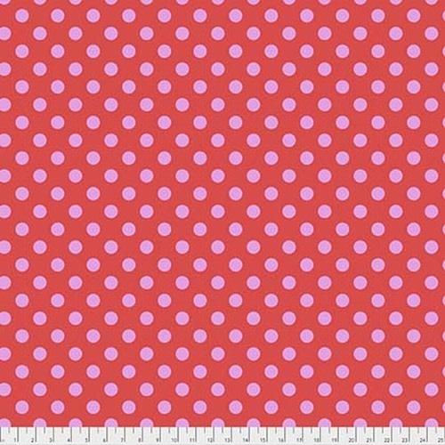 Tula Pink Pom Poms - Poppy, per cm or $16/m