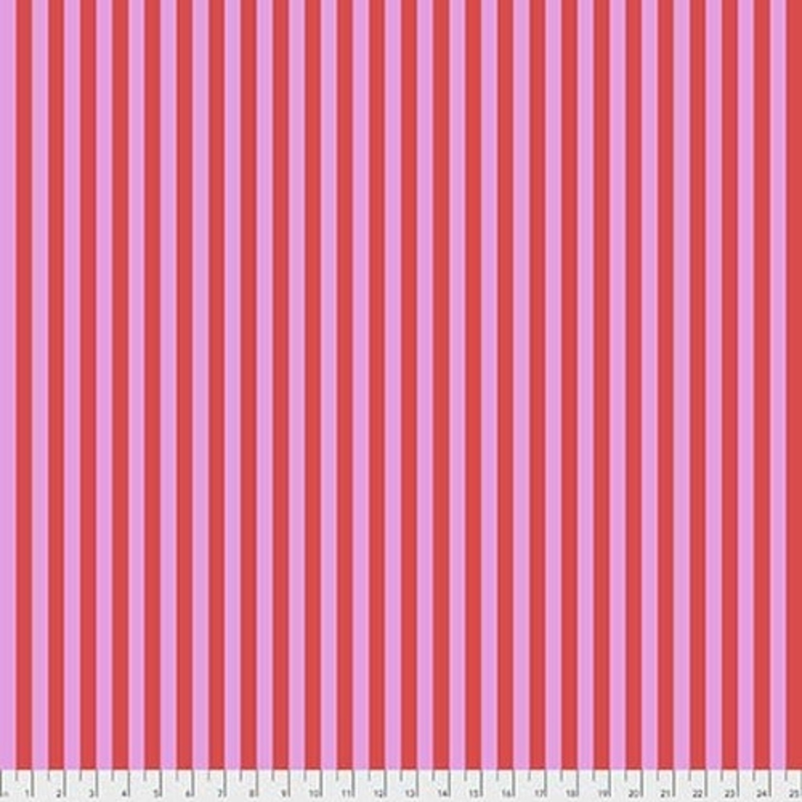 Tula Pink Tula Tent Stripe- Poppy 0.17 per cm or $17/m