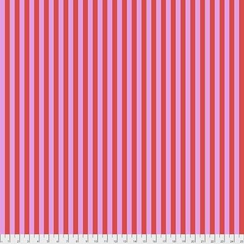 Tula Pink Tent Stripe - Poppy, per cm or $16/m