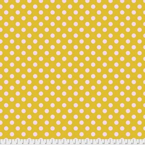 Tula Pink Pom Poms - Marigold, per cm or $16/m