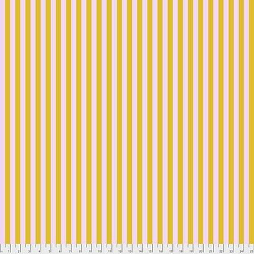 Tula Pink Tent Stripe - Marigold, per cm or $16/m