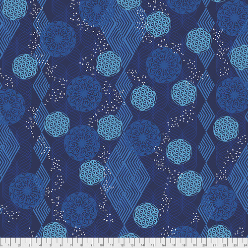 FREE SPIRIT Kismet - Tapestry - Indigo, per cm or $16/m