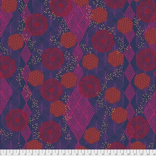 FREE SPIRIT Kismet - Tapestry - Plum, per cm or $16/m End of May 2020