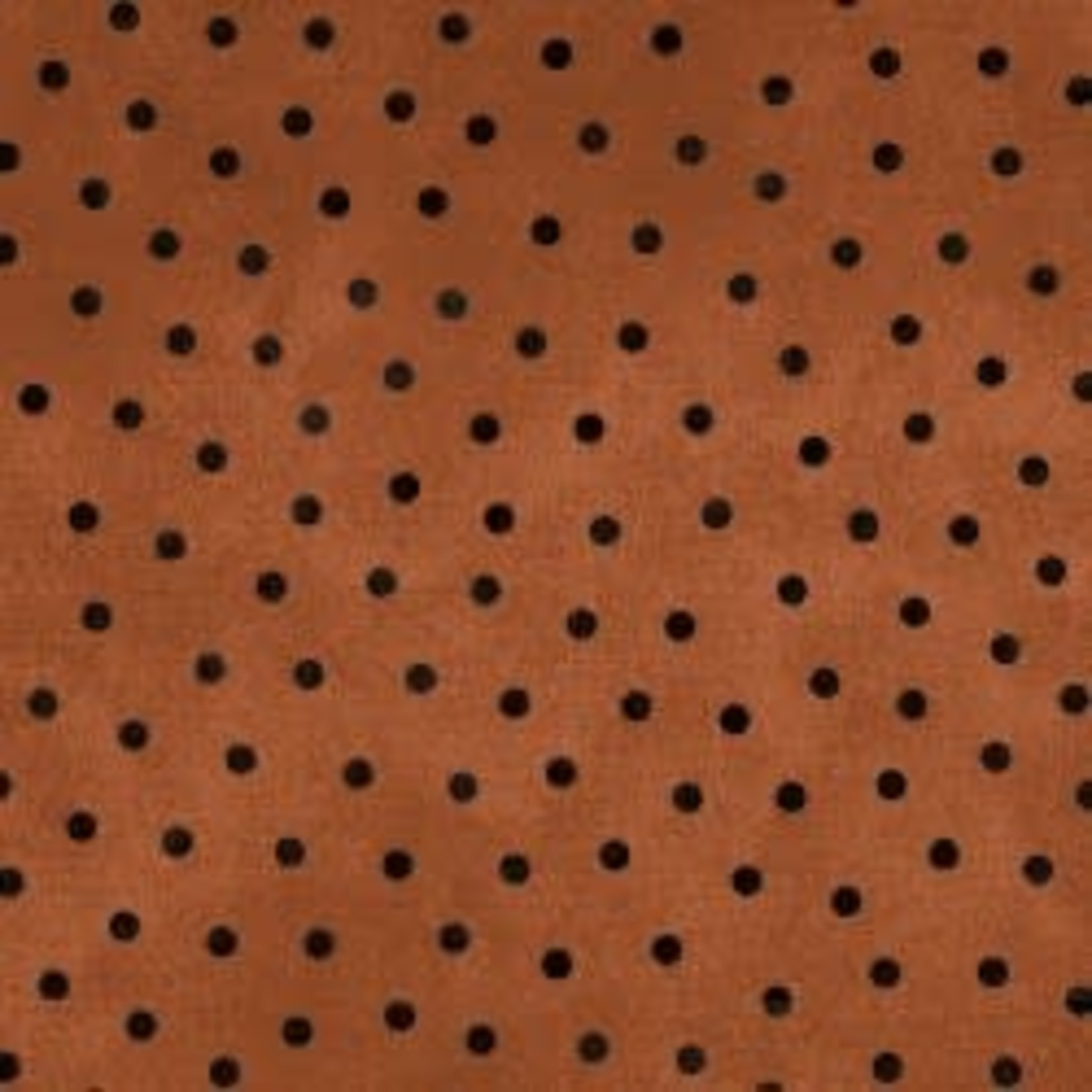 Maywood Flannel Woolies Polkadots Black on Orange PER CM OR $20/m