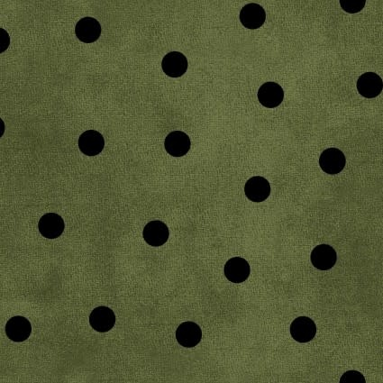 MAYWOOD Wonderful Time Flannel Black on Green, /CM OR $18/M