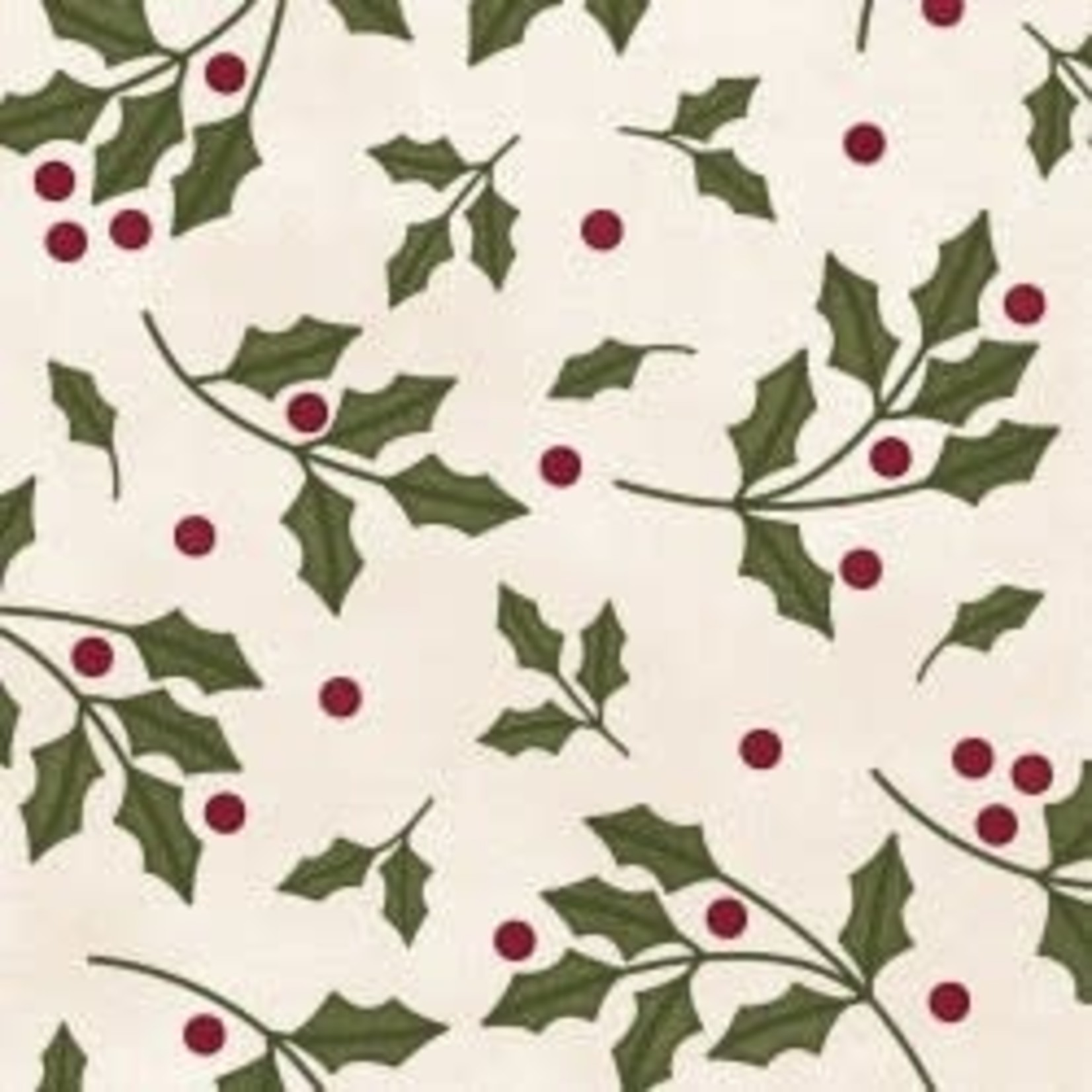 MAYWOOD Wonderful Time Flannel White Holly, /CM OR $18/M