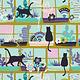 ART GALLERY Oh, Meow! Purrrlandia, per cm or $20/m