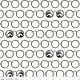 RILEY BLAKE DESIGNS Goose Tales, Spooky Specs Off White, per cm or $20/m Halloween