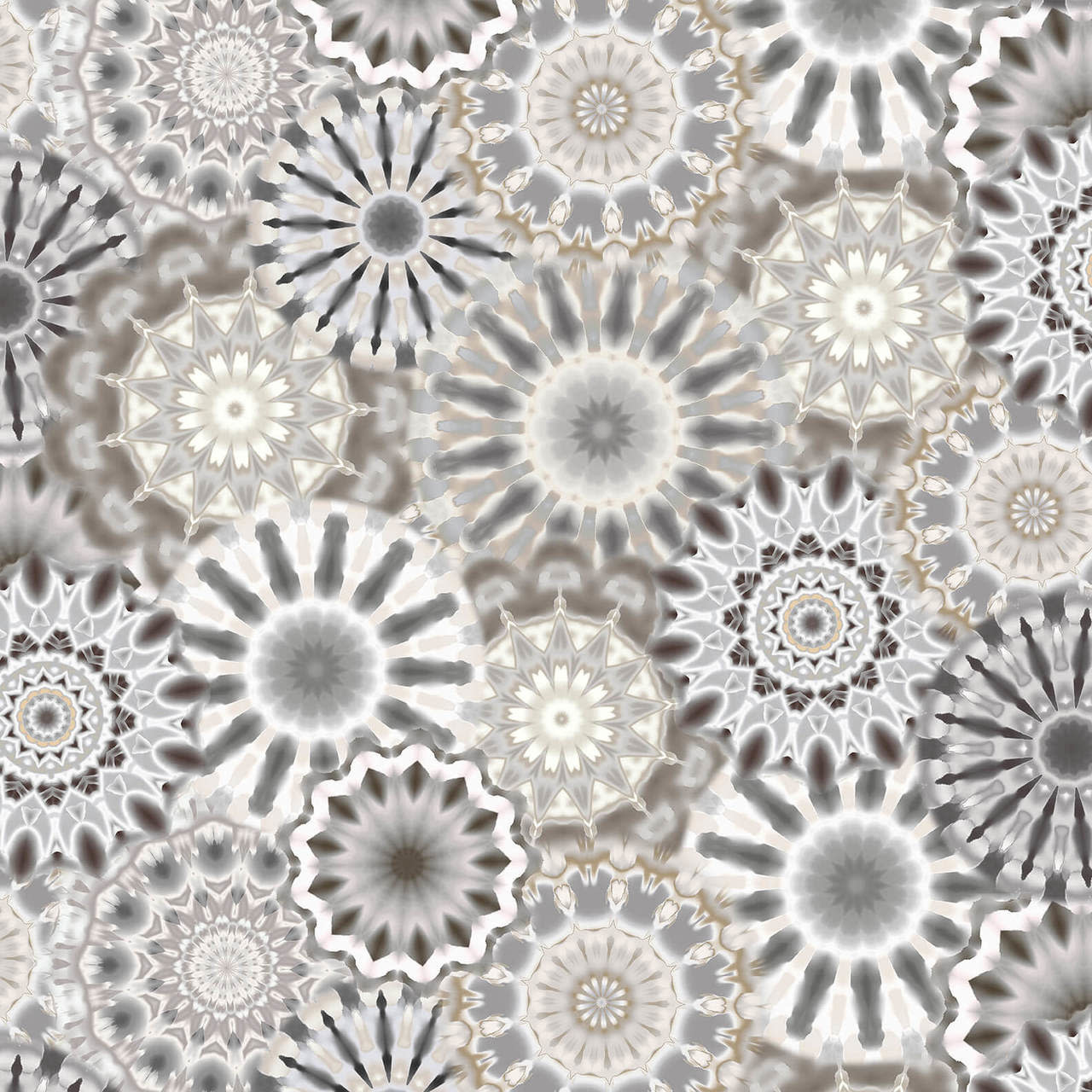 "Blank Quilting Corp Radiance - Kaleidoscope, Gray , 108"" WIDE, PER CM or $32/M"