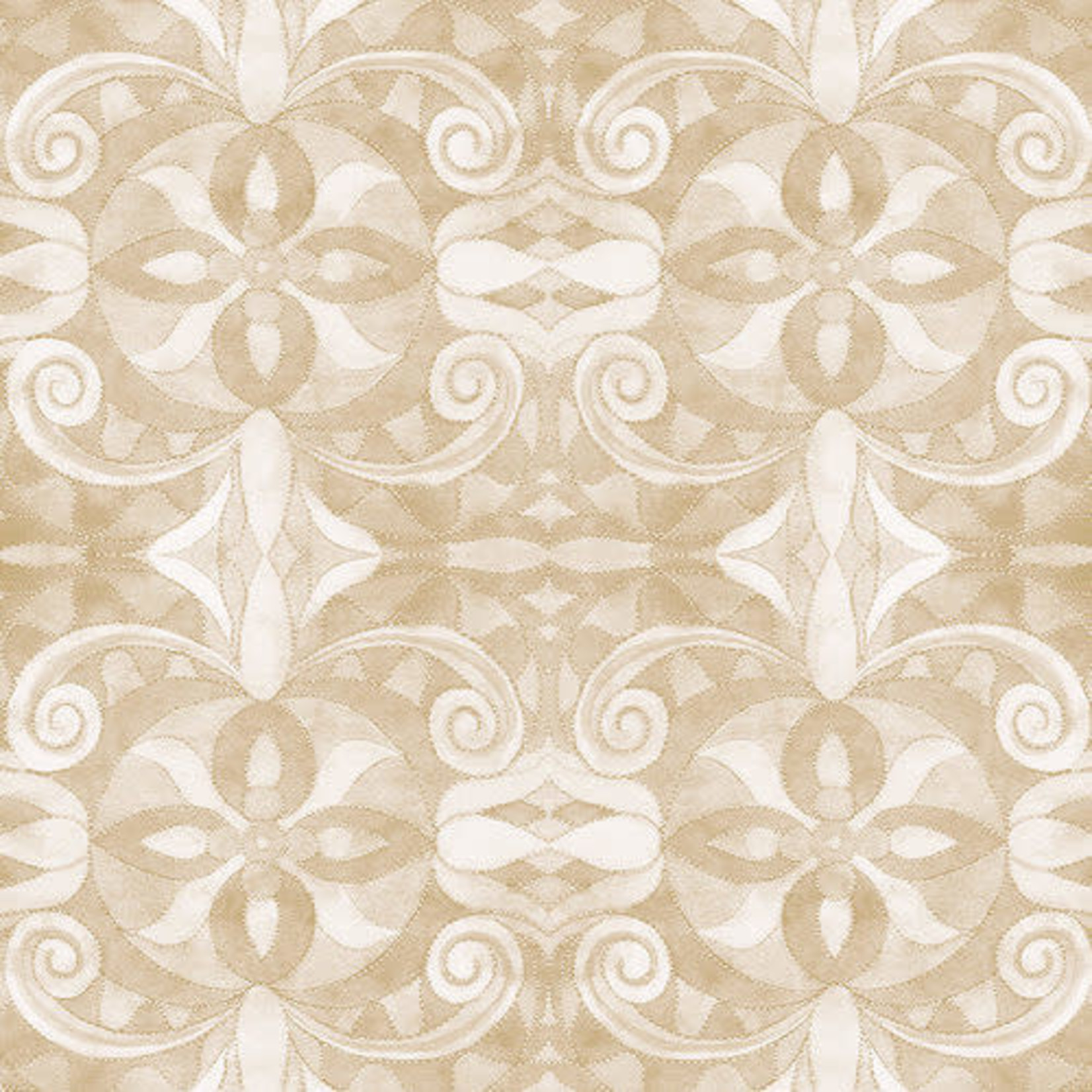 "Blank Quilting Corp Baroque - Ivory 108"" WIDE, PER CM or $30/M"