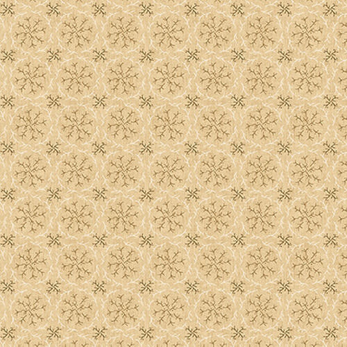Blank Quilting Corp Barn Dance - Twig Wreaths- Ivory PER CM OR $20/M