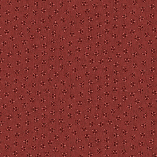 Blank Quilting Corp Barn Dance - Cluster- Red PER CM OR $20/M