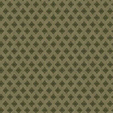Blank Quilting Corp Barn Dance - Scroll- Green PER CM OR $20/M