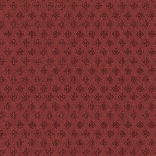 Blank Quilting Corp Barn Dance - Scroll- Red PER CM OR $20/M