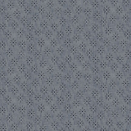 Blank Quilting Corp Barn Dance - Diamonds - Blue PER CM OR $20/M