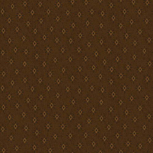 Blank Quilting Corp Barn Dance - Diamonds - Brown PER CM OR $20/M