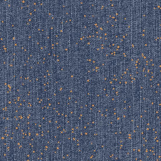 ANDOVER Almost Blue, Splatter, Metallic, $0.20/cm or $20/m