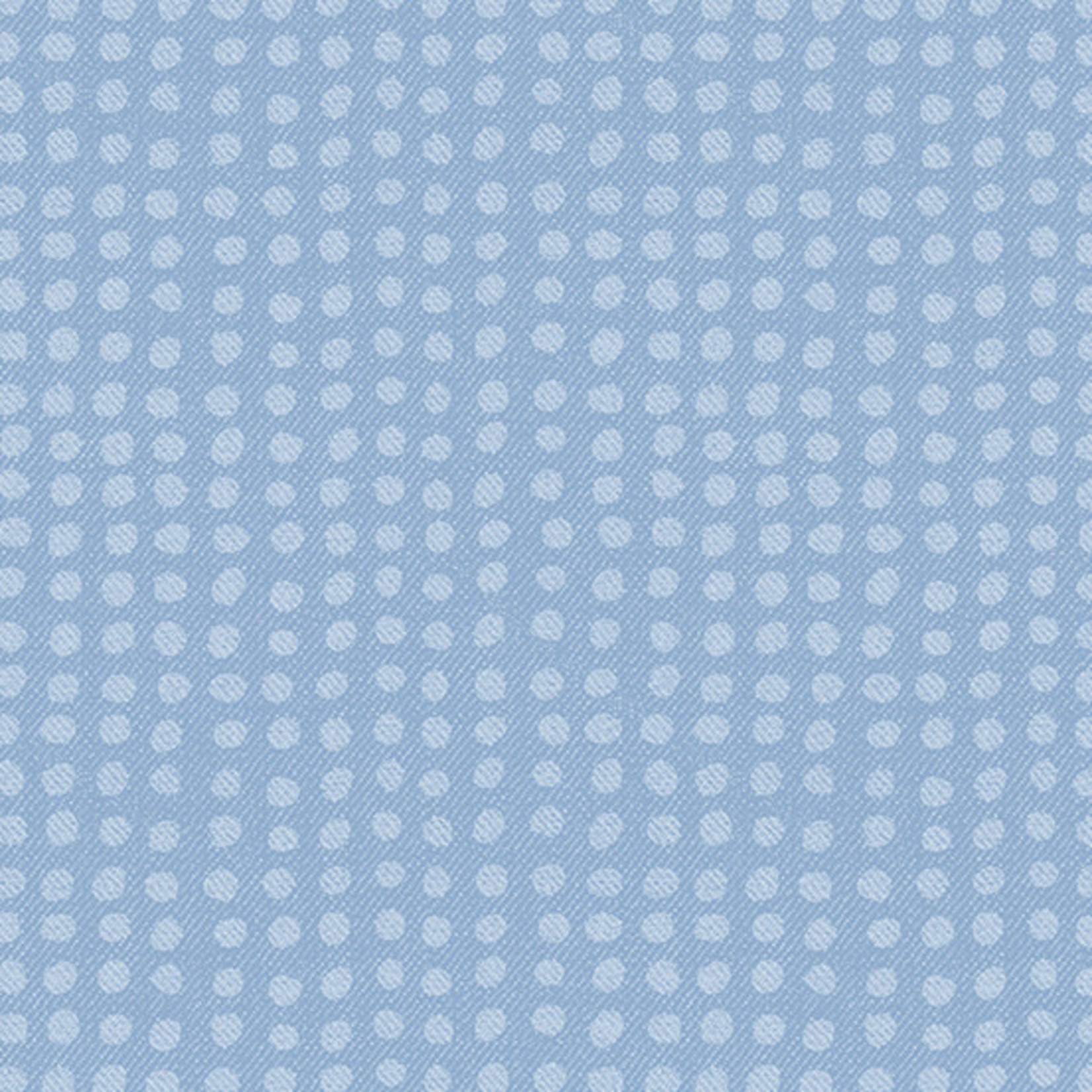Andover Almost Blue, Dot, Sunbleached, $0.20/cm or $20/m