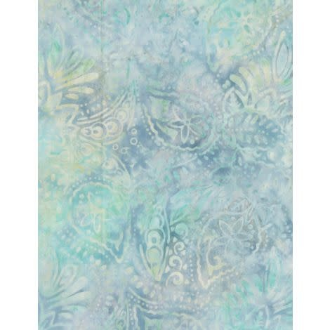 WILMINGTON PRINTS Ribbon Candy, Packed Paisley Blue/Green, Fabric J, Per Cm or $20/m