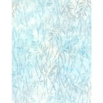 WILMINGTON PRINTS Ribbon Candy, Delicate Leaves Cream/Blue, Fabric B, Per Cm or $20/m