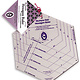 """MARTI MICHELL Hexagon Ruler - 6 Sizes, 2-4"""" on a finished side"""
