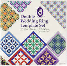 MARTI MICHELL Double Wedding Ring Template Set with booklet