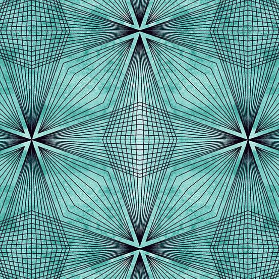 ANDOVER Prism, Geometric Lines - Aquastone, per cm or $20/m