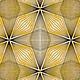 ANDOVER Prism, Geometric Lines - Tangerine, per cm or $20/m