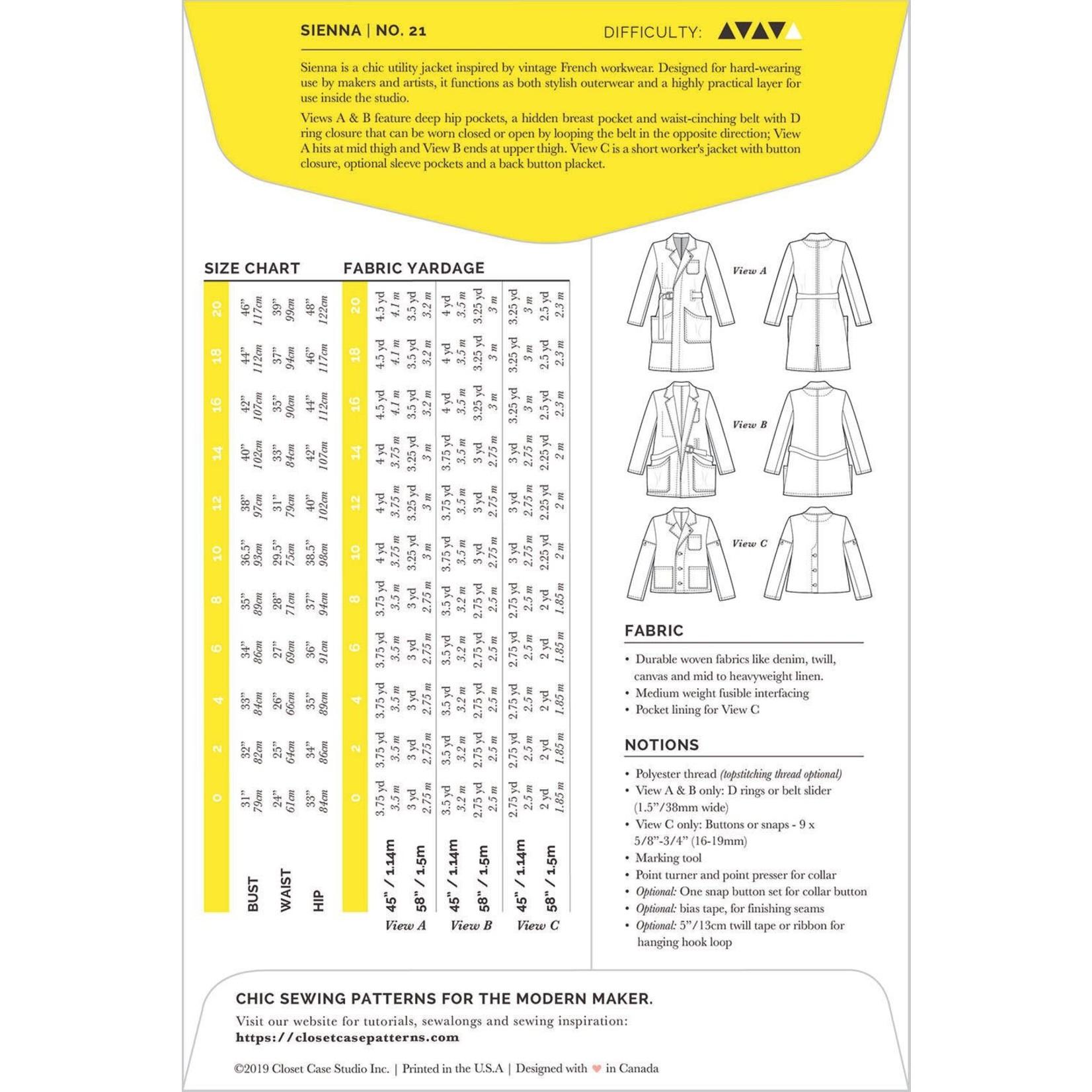 Closet Core Patterns Closet Core - Sienna Maker Jacket Pattern 0-20