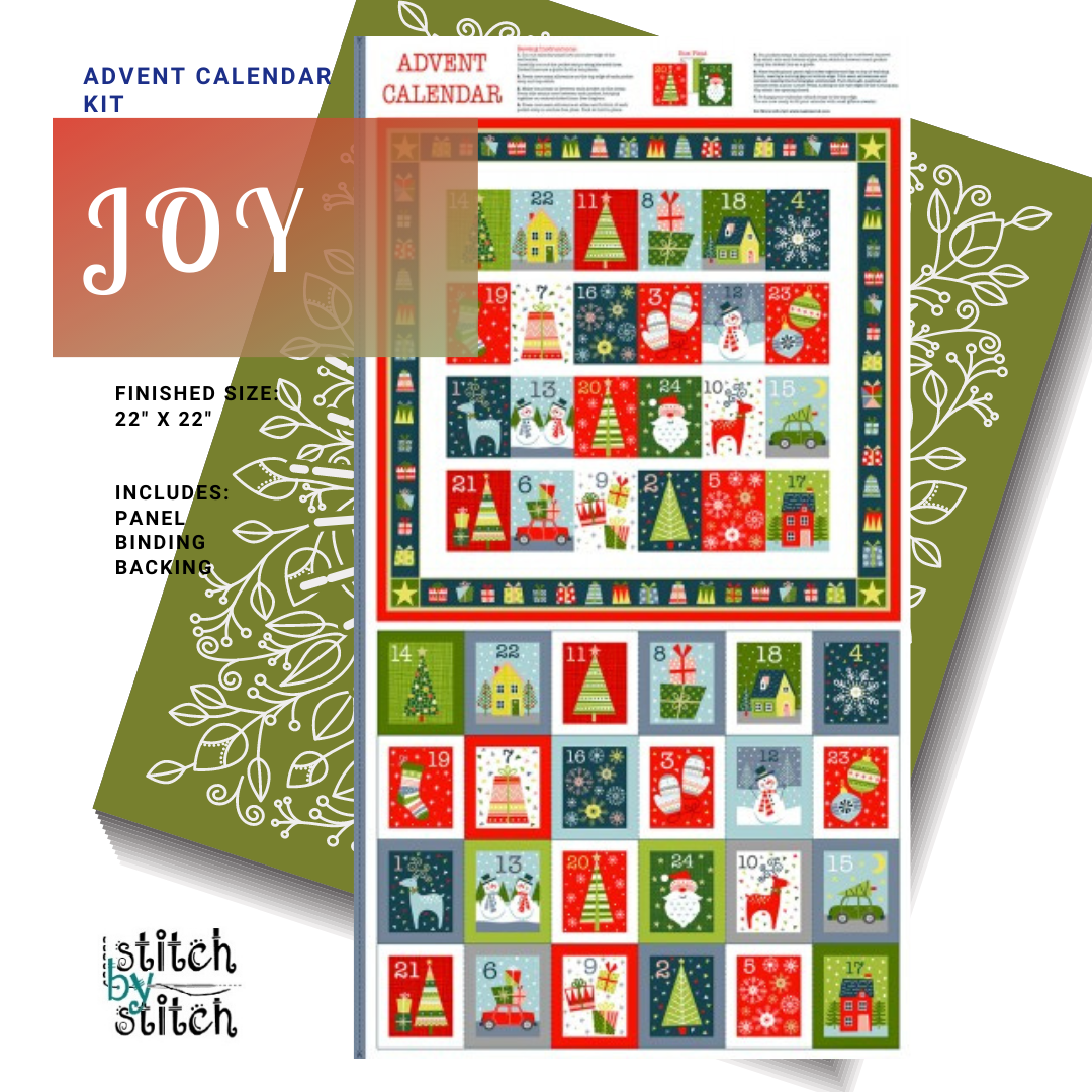 MAKOWER JOY ADVENT CALENDAR KIT - WHITE BACKING
