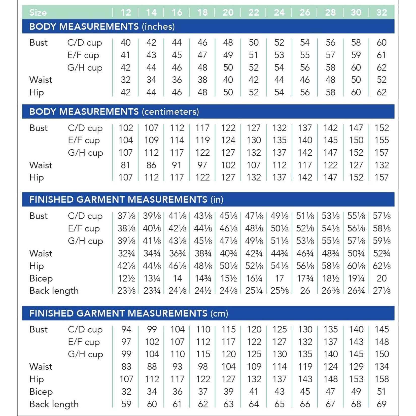 Cashmerette Dartmouth Top Pattern 12-32 (Cup C-H)