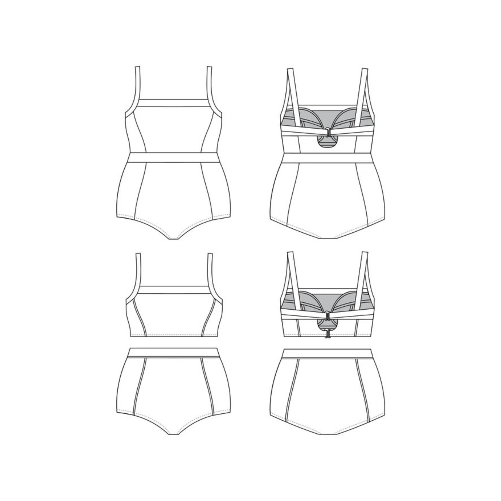 Cashmerette Ipswich Swimsuit One-Piece & Bikini Pattern 12-28 (Cup C-H)