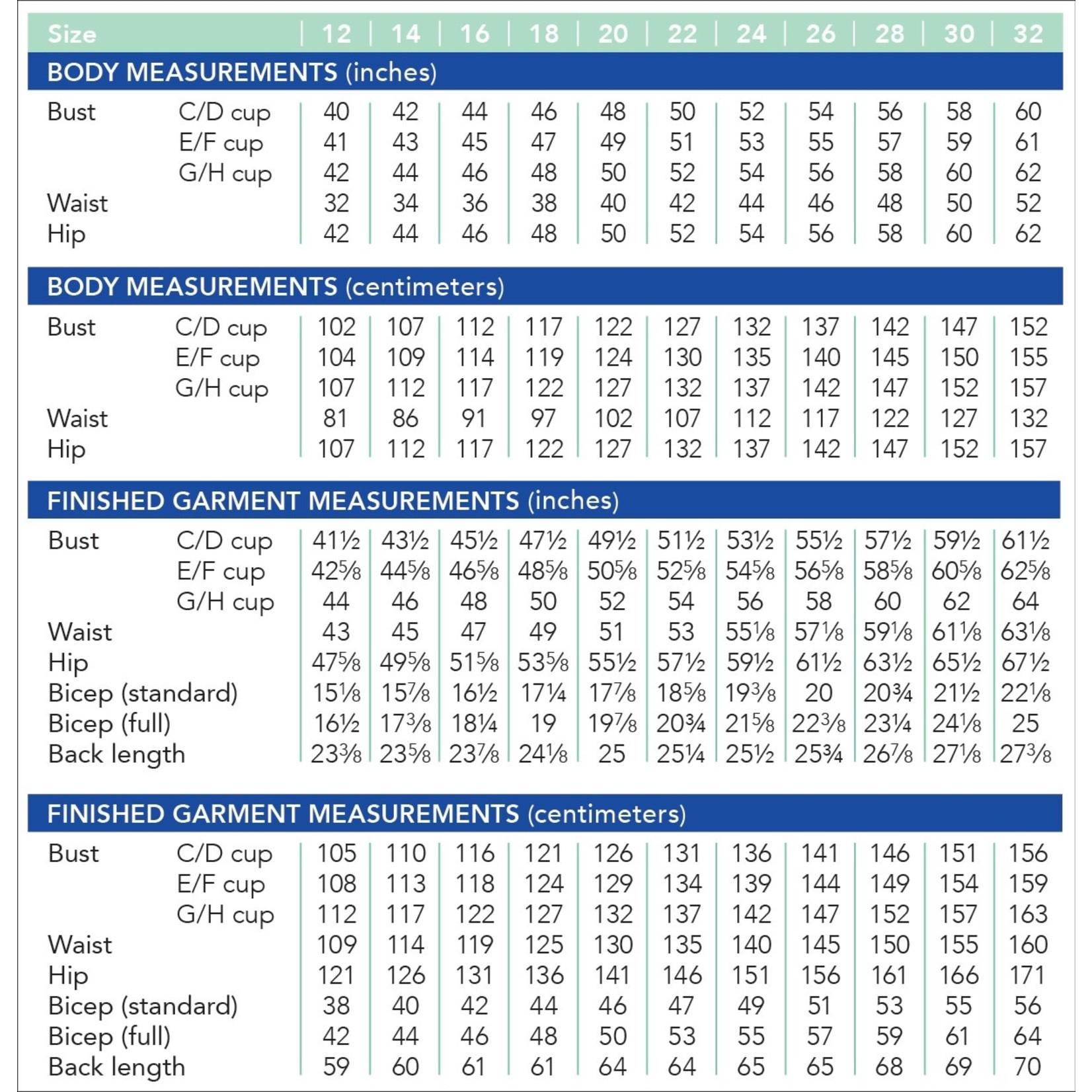 Cashmerette Montrose Top Pattern 12-28 (Cup C-H)