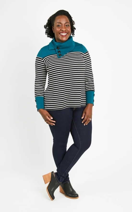 Cashmerette Tobin Sweater Pattern 12-28 (Cup size C-H)